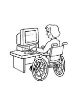 Disabile da colorare 13