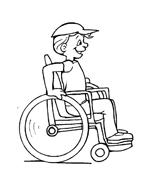 Disabile da colorare 27