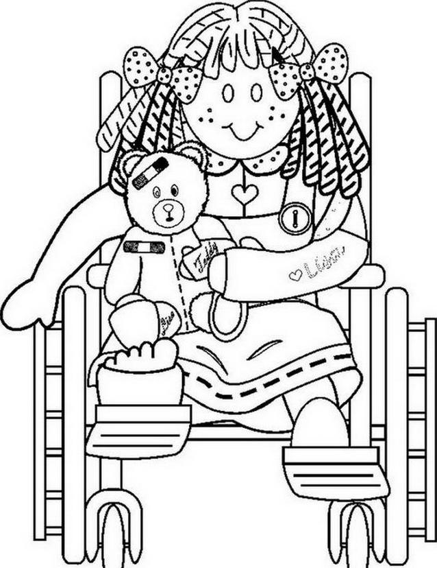 Disabile da colorare 33