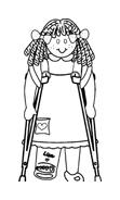Disabile da colorare 43