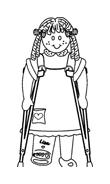 Disabile da colorare 46