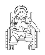 Disabile da colorare 48