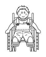 Disabile da colorare 51
