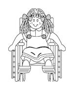 Disabile da colorare 52
