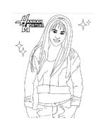 Hannah montana da colorare 24