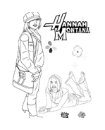 Hannah montana da colorare 31
