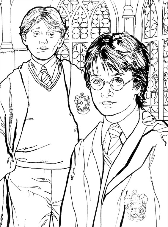 Harry potter da colorare 10