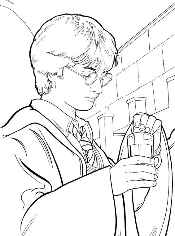 Harry potter da colorare 14