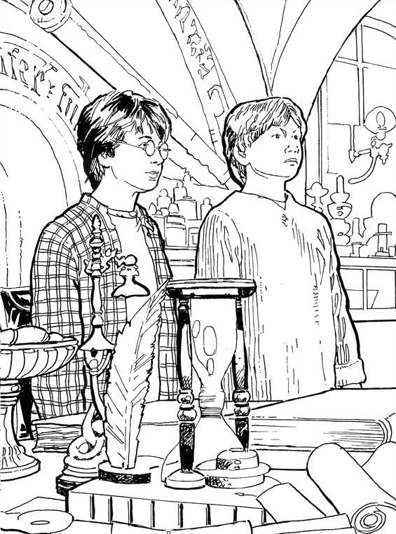 Harry potter da colorare 18