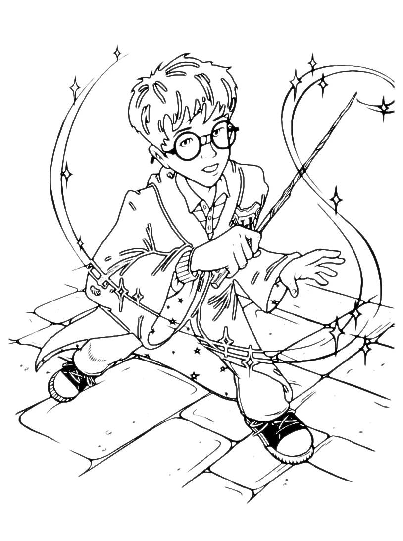 Harry potter da colorare 88