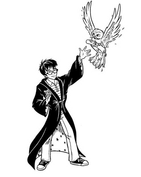 Harry potter da colorare 143