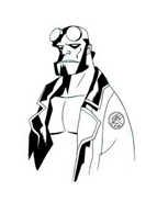 Hellboy da colorare