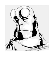 Hellboy da colorare 2