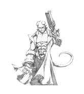 Hellboy da colorare 3
