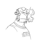 Hellboy da colorare 6
