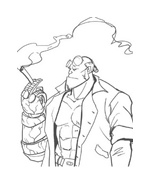 Hellboy da colorare 9