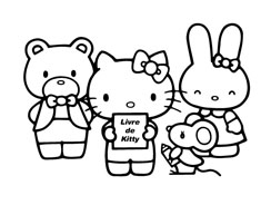 Hello kitty da colorare 14