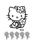 Hello kitty da colorare 15