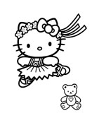 Hello kitty da colorare 16