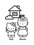 Hello kitty da colorare 17