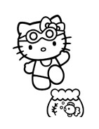 Hello kitty da colorare 21