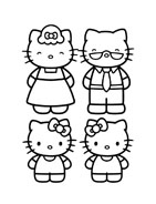 Hello kitty da colorare 22