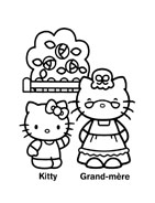Hello kitty da colorare 23
