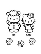 Hello kitty da colorare 27