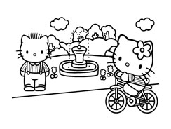 Hello kitty da colorare 28