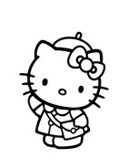 Hello kitty da colorare 29