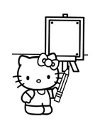 Hello kitty da colorare 31