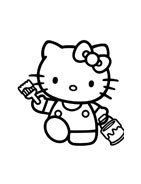 Hello kitty da colorare 32