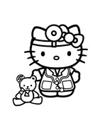 Hello kitty da colorare 36