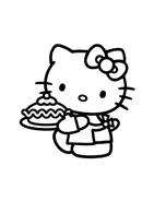 Hello kitty da colorare 37