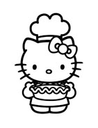 Hello kitty da colorare 39