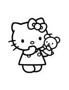 Hello kitty da colorare 40