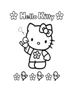 Hello kitty da colorare 42