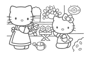Hello kitty da colorare 43