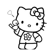 Hello kitty da colorare 45