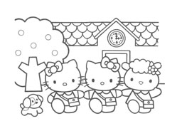 Hello kitty da colorare 46