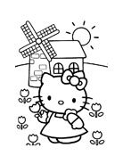Hello kitty da colorare 47