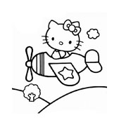 Hello kitty da colorare 49
