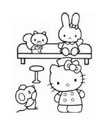 Hello kitty da colorare 54