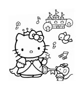 Hello kitty da colorare 55