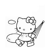 Hello kitty da colorare 57