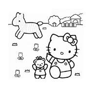 Hello kitty da colorare 58