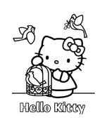 Hello kitty da colorare 59