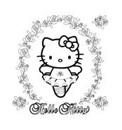 Hello kitty da colorare 60