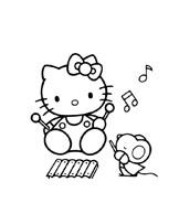 Hello kitty da colorare 62