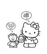 Hello kitty da colorare 66